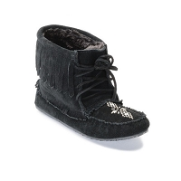 LADIES LINED 'BLACK' HARVESTER MOCCASIN