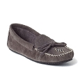Ladies' Canoe Syle,  Charcoal Suede,  with Vibram Sole