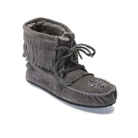 LADIES LINED 'CHARCOAL' HARVESTER MOCCASIN