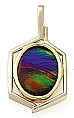 Ammolite Pendant 14K Yellow Gold