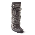 LADIES CHARCOAL TALL 'WRAP' MUKLUK