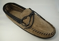 MEN'S SUEDE AND LEATHER TWO TONE GREY & BLACK MOCCASIN