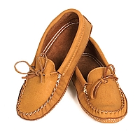 Men's Dark Tan Moose Hide Moccasins