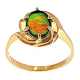 Ladies' Ammolite Ring 14K Yellow Gold