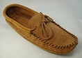 MEN'S SUEDE TWO TONE CORK & DARK TAN MOCASSIN